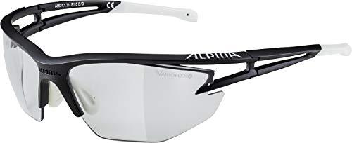 Alpina Sonnenbrille Performance EYE-5 HR VL+ Sportbrille, schwarz matt-White, One Size -
