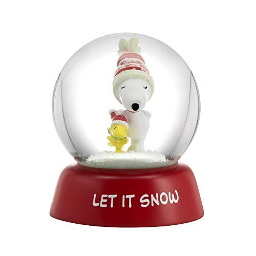 Hallmark 6MJC3050 Holiday Peanuts Schneekugel, Rot, Weiß, Grün, - Beagle Jungen Kostüm