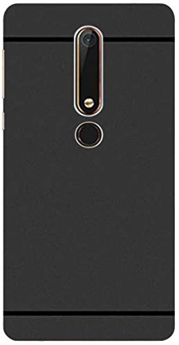 Finely Express Soft Silicone Cover for Nokia 6.1 (Matte Black)