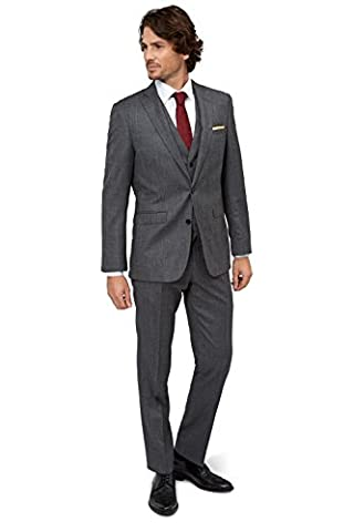 Moss 1851 Men`s Tailored Fit Charcoal Textured Suit Jacket 50R