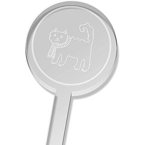Azeeda 5 x 'Katze Tragen Schal' Groß Trinken Sie Rührer (DS00014933) - Tragen Große Schal