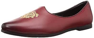 BATA Men's Jalsa Ethnic Red Leather Formal Shoes-7 UK (41 EU) (8545981)
