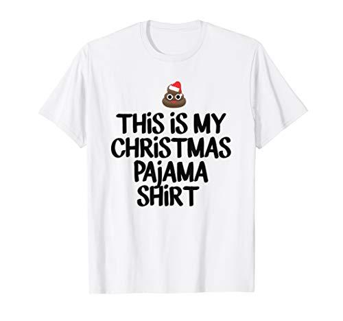 Das ist My Xmas Emoji Pyjama Poop T-Shirt