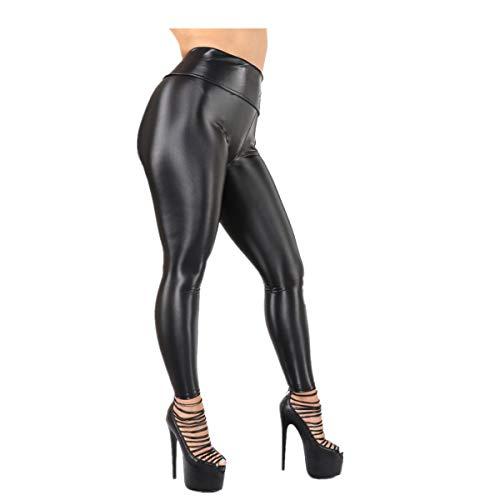 BBestseller Mujeres Leggins Cuero Skinny Elásticos Pantalones Cintura Alta Pantalones Deportivos para Mujer Gimnasio Fitness Pantalón