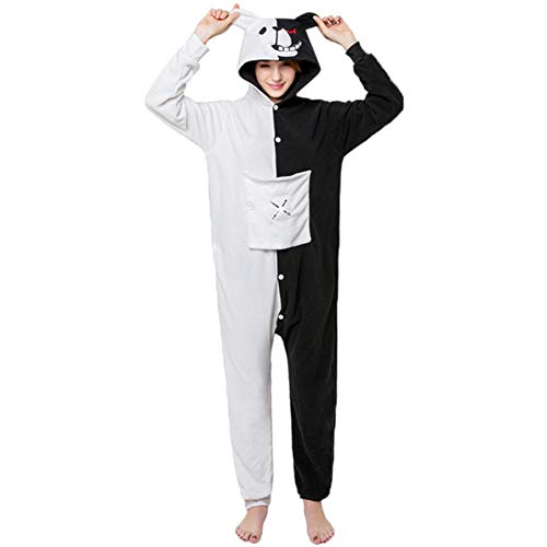 leidung Animal Erwachsene Unisex Schlafanzüge Karneval Onesies Cosplay Jumpsuits Anime Pajamas Hoodie Carnival Monokuma Spielanzug Kostüme Weihnachten Halloween Nachtwäsche ()