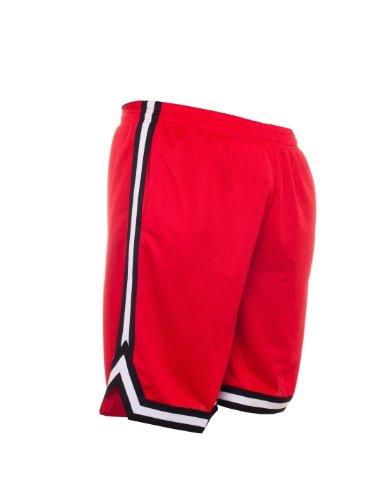 Urban Classics TB243 Herren Shorts Stripes Mesh Red/Black/White
