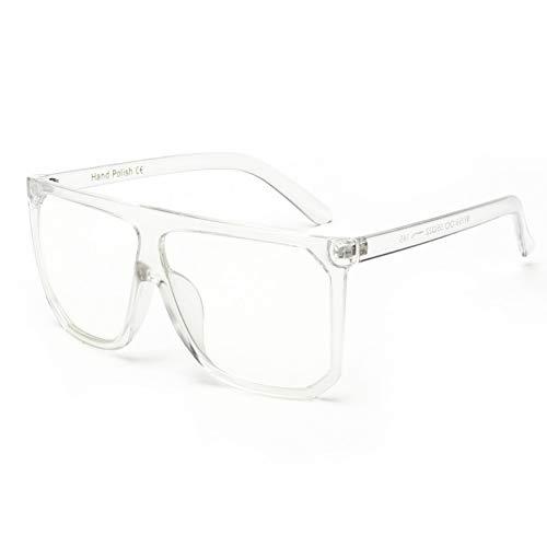 YOGER Sonnenbrillen Mode Frauen Sonnenbrille Übergröße Weibliche Flache Top Vintage Sonnenbrille Eyewear