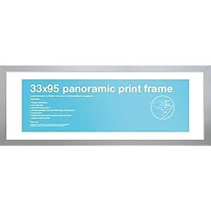 GB Eye Bilderrahmen für Panorama-Druck, 33 x 95 cm, Silber
