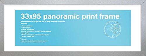 für Panorama-Druck, 33 x 95 cm, Silber ()