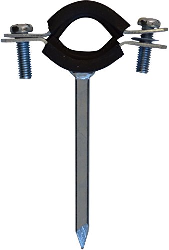 Rohrschelle Stahl verzinkt mit Schallschutz für Rohre 31,8 mm 1 1/4 Zoll und 42 mm, verzinkt, 1930346