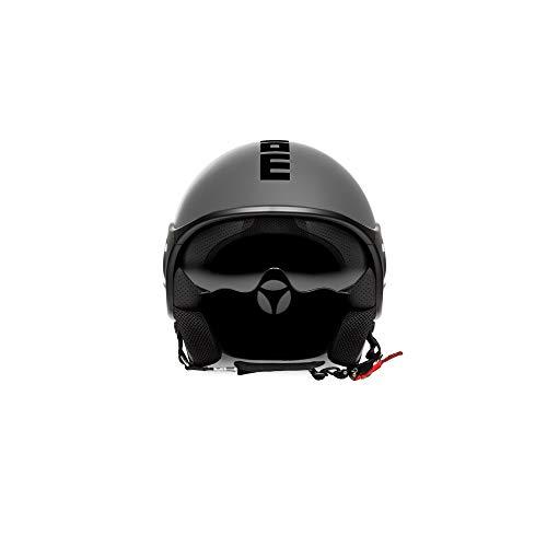 Momo Motorradhelm Mini-S Aluminium Fr./Schwarz, XXS 10020030041