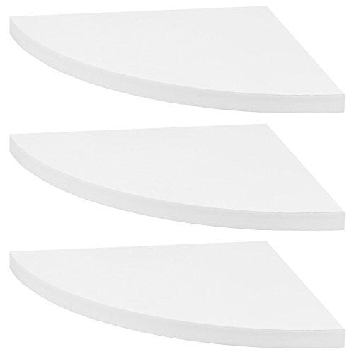 Hartleys - set da 3 mensole angolari a muro - bianco