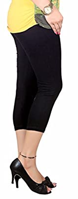 Q-rious (Pack of 2) Women's Cotton Lycra Capri/Three fourths for Casual/Sports/Gym Wear