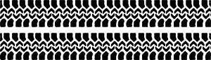 Online Design 2X Neumático Pistas Land 4x4 Pegatina