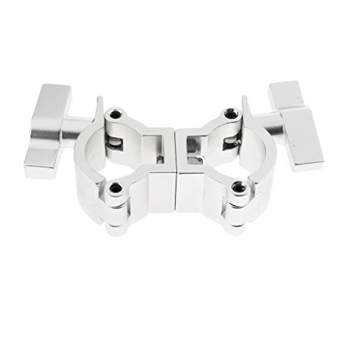 FLAMEER Hochleistungs 75kg Stage Light Hook Clamp Fit 32mm-35mm OD Rohr 14x3cm -