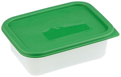 Rotho Domino 4er Set Vorratsdosen, Kunststoff (BPA-frei), grün / transparent, 4 x 0.4 Liter (11,7 x 7,5 x 5,3 cm)