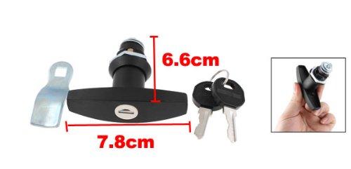 1/5,1cm PT Gewinde Einbauleuchten Metall Schranktür Security Lock w 2Pcs Keys