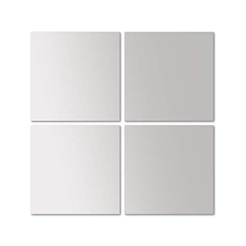 4 piezas de azulejos espejo Image 30 espejo cada 30x30cm decoración de la pared espejo de pared espejo...