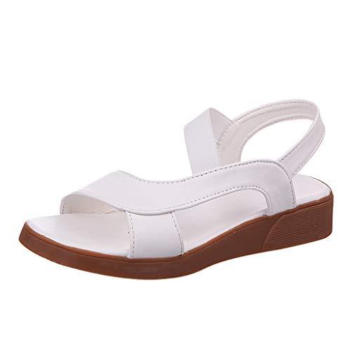 a7831343f80 Luckycat Sandalias de Moda Sandalias Planas de Cuero envejecidas de Las Mujeres  Zapatos de Mujeres Sandalias
