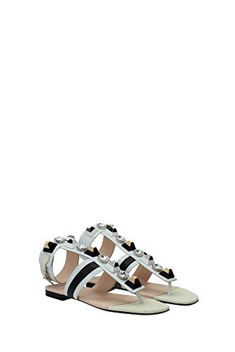 8Y52105TAF091X Fendi Sandale Femme Cuir Blanc Blanc