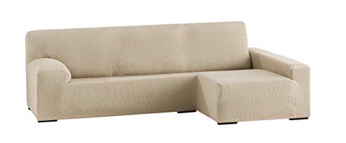Eysa ulises copridivano elastico per divani con chaise longue a destra, beige, 210 - 240 cm