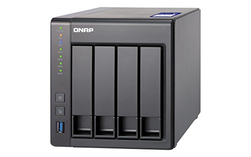 QNAP TS-431X2-2G Desktop NAS Gehäuse mit 2 GB DDR3 RAM, Powerful 4-Bay Storage Server