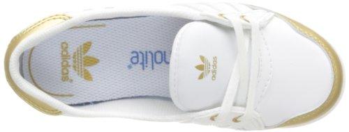 adidas Originals Forum Slipper K-3 D67273 Unisex - Kinder Sneaker Weiß (RUNNING WHITE FTW / RUNNING WHITE FTW / GOLD FOIL)