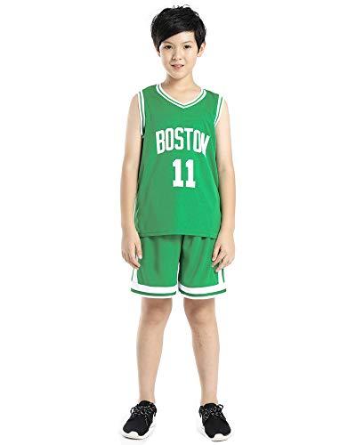 DEBND Kinder Junge NBA Irving 11# Celtics Retro Basketball Shorts Sommer Trikots Basketballuniform Top & Shorts Basketball Anzug