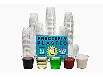 Schnapsgläser, plastik, farblos, 1 oz Shot Glasses -