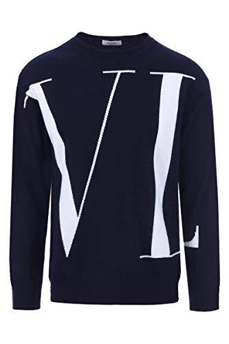 Preisvergleich Produktbild Valentino Herren Qv0kc29d593za4 Blau Wolle Sweater
