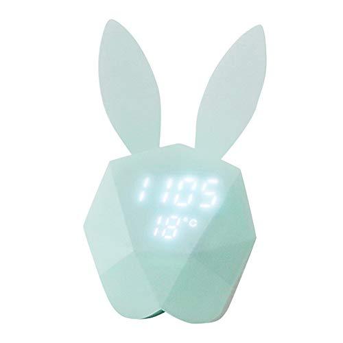 Dtuta Kaninchen SüßEs Aussehen Wecker Mit Projektion USB Anschluss Led Digitaluhr Tischuhren Wecker Digital Intelligente Stimme