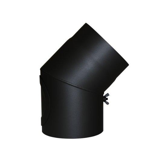 Kamino - Flam – Codo con válvula y puerta para chimenea de...