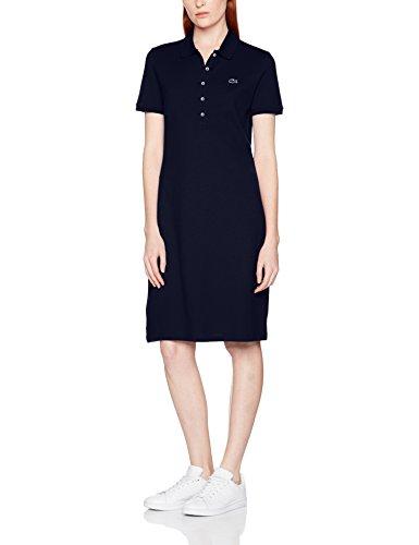 Lacoste Damen Kleid Ef8470, Blau (Marine), 38 (Herstellergröße: 38) (Kleid Lacoste Schuhe)