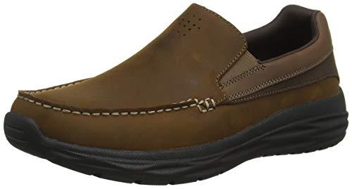 Skechers harsen-ortego, mocassini uomo, marrone (brown cdb), 41 eu