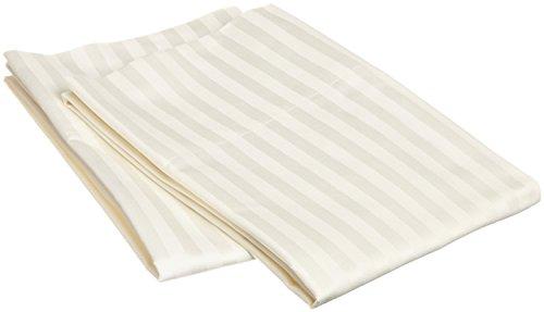 2Stück Kissen Fall 100% Baumwolle Top Qualität & langstapelige 600-thread-count Standard, King, Quadratisch, Reisen, 50,8x 91,4cm & Body Größe Modern King Ivory Stripe - Top Thread