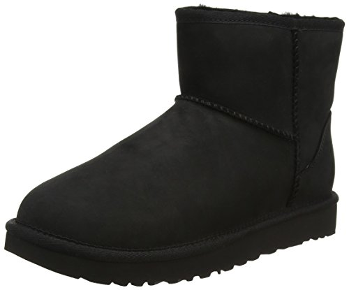 ugg-mini-classic-leather-sneakers-hautes-femme-noir-nero-38-eu
