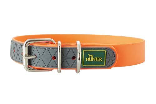 HUNTER CONVENIENCE Hundehalsband, Kunststoffgemisch, 55, neonorange -