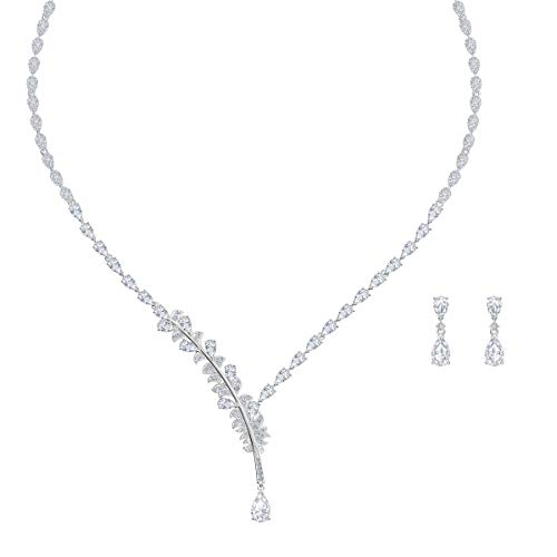 Swarovski Nice Set für Frauen, weißes Kristall, rhodiniert