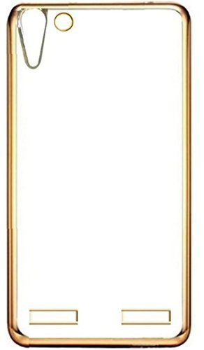 eCosmos EC-K5GLD Lenovo VIBE K5 / K5 PLUS - Transparent Soft Silicon Flexible Electroplated Edges TPU Back Case Cover  available at amazon for Rs.99