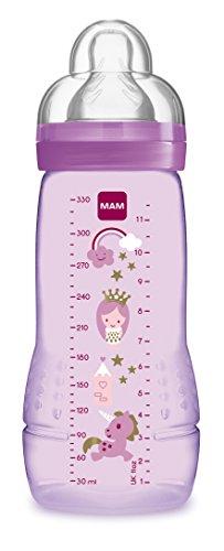 MAM 67490722 - Easy Active Baby Bottle 330 ml, Babyflasche, für Mädchen, Sortiert
