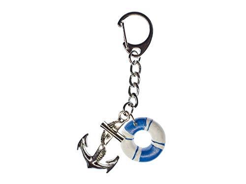 Miniblings Anker mit Rettungsring Schlüsselanhänger Schlüsselring Zweiteilig