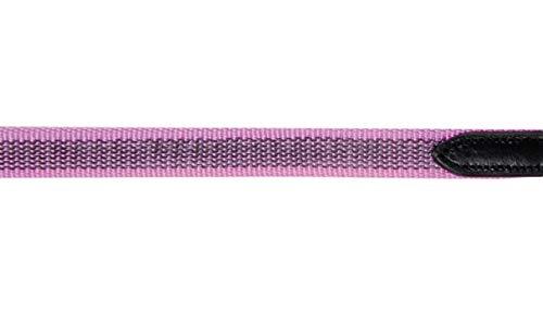 HKM Zügel durchwebt mit Gummi -Colour-, schwarz/pink, Shetty