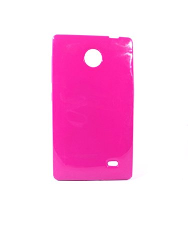 iCandy™ Colorfull Thin Soft TPU Back Cover For Nokia X / X+ - Raspberry  available at amazon for Rs.99