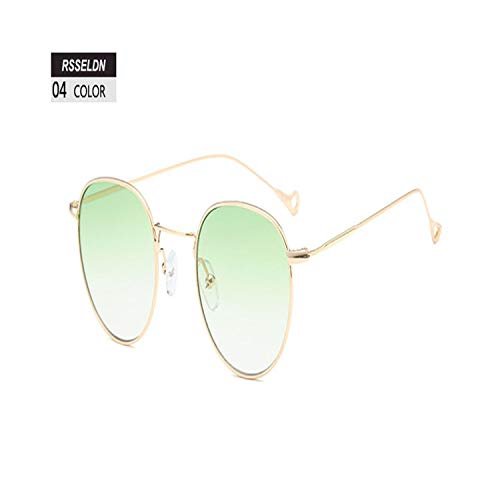 Sport-Sonnenbrillen, Vintage Sonnenbrillen, Vintage Round Sunglasses Women Summer Clear Lens Small Frame Sun Glasses For Men Fashion Yellow Blue Green UV400 Metal 04