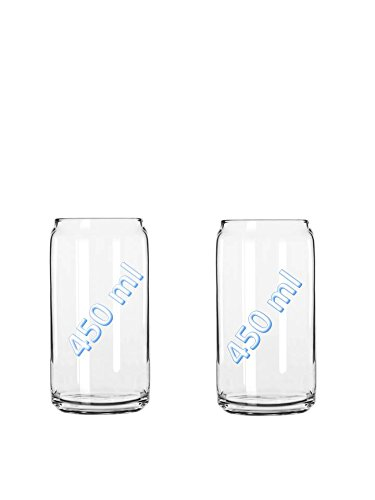 USA BEER CAN GLASS - 2 PACK