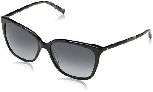 Max mara mm tube i 9o 1ei 56, occhiali da sole donna, nero (blgrydiamtex/dark grey sf)