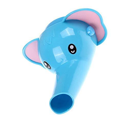 ststoff Wasserhahn Extender Cartoon Tiere Form Waschbecken Wasserhahn Extender für Baby Kinder Hand waschen blauen Elefanten ()
