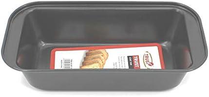 Trust Bread Pan Rectangle, Black, Br118, Aluminum