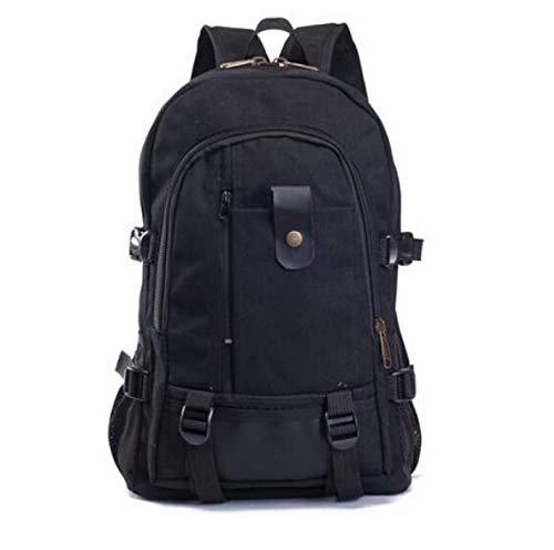 Preisvergleich Produktbild Laptop Rucksack Große Kapazität Tragbare Schultertasche Freizeit Reisen Canvas Rucksack Schüler Gehen Zu Schultaschen Schwarz Tycoon