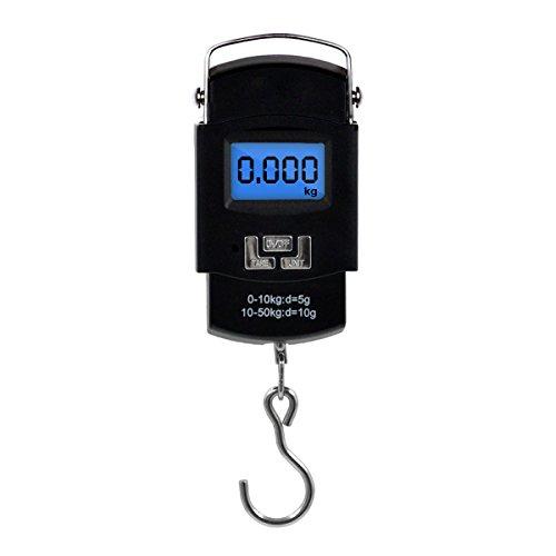 Báscula Digital de Equipaje 10g~50kg para Maletas Equipaje de Viaje Báscula Cocina,color negro